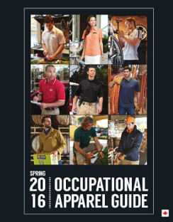 Occupational apparel guide spring 2016 catalogue
