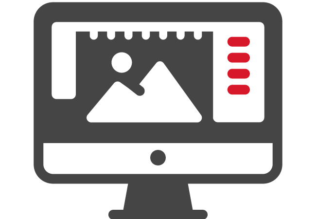 Computer Desktop Headline icon